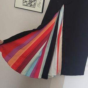 Black Dress with Peekaboo Pleated Rainbow!